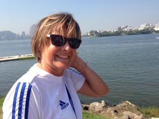 Brigitte Kotwica, fisioterapeuta da equipe francesa (Foto: Vicente Seda)