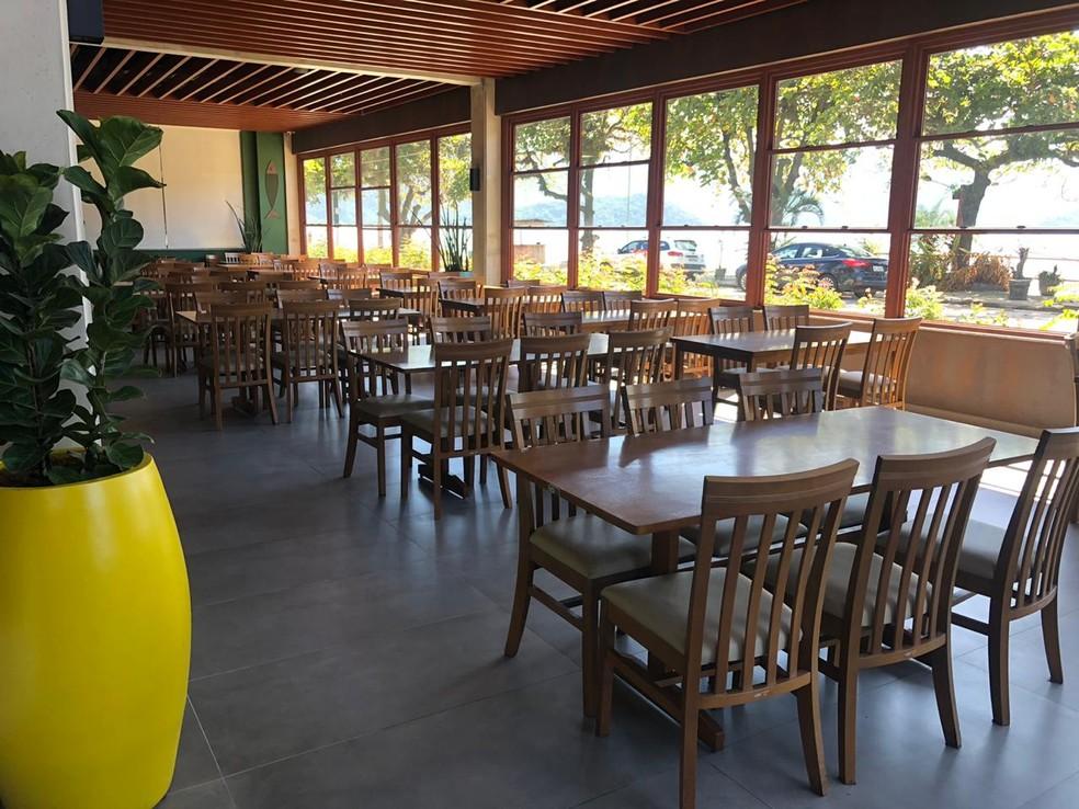 Restaurante vazio em momento de isolamento social em Ubatuba — Foto: Arquivo Pessoal