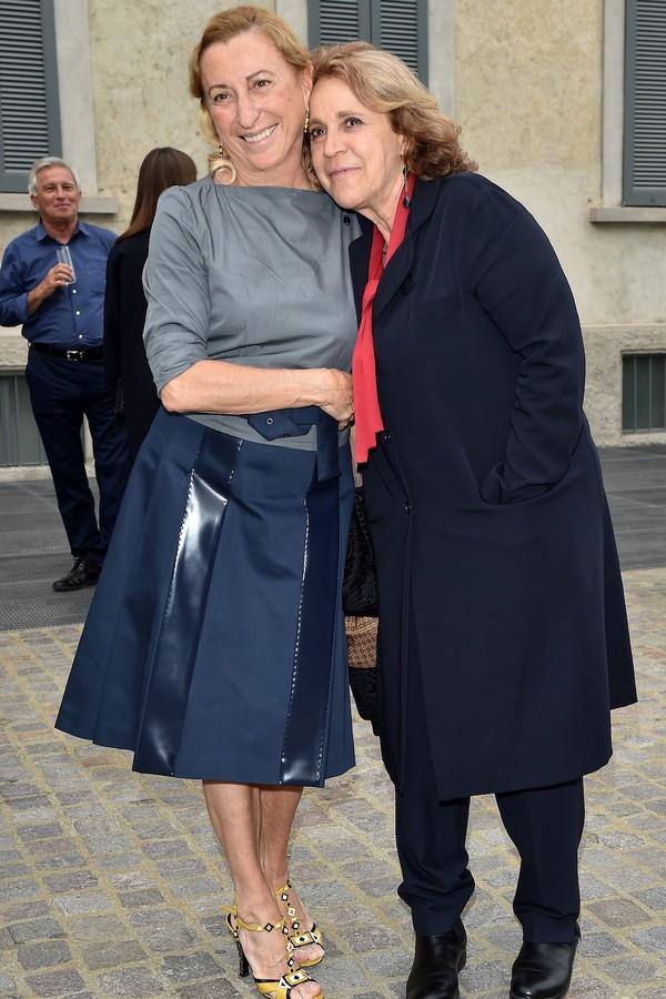 Miuccia Prada e Andree Ruth (Foto: Getty Images)