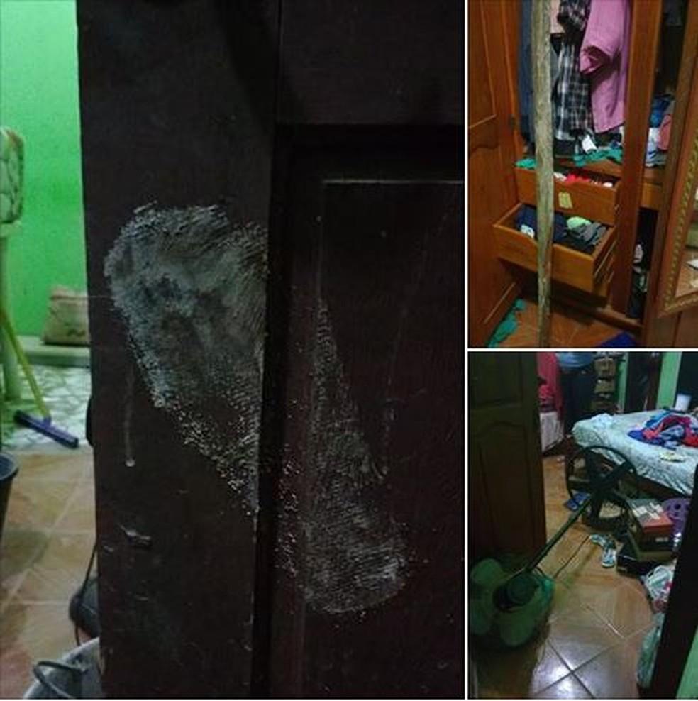 Bandidos reviraram a casa do professor em Rio Branco  (Foto: Marivaldo Silva/Arquivo pessoal )