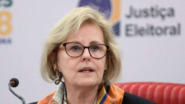 TSE está 'entendendo o fenômeno' das notícias falsas, afirmou a ministra Rosa Weber em coletiva de imprensa (Foto: ROBERTO JAYME/ASCOM/TSE/BBC)