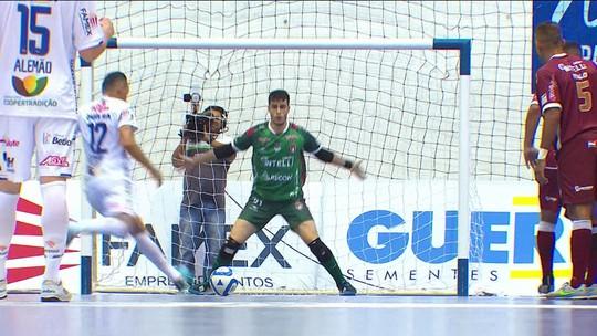 Os gols de Pato 3 x 3 Paraíso pela Liga Nacional de Futsal