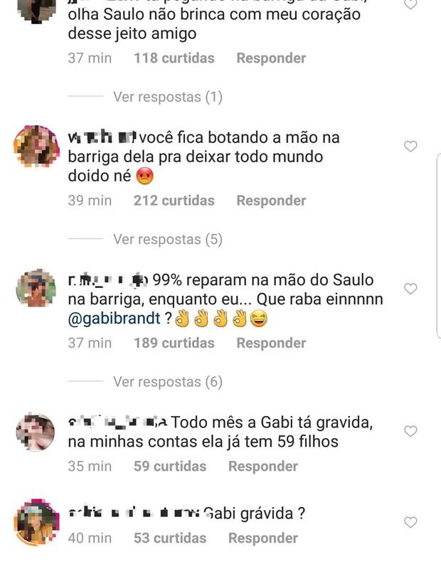 Fãs questionam se Gabi Brandt está grávida (Foto: Instagram/Reprodução)
