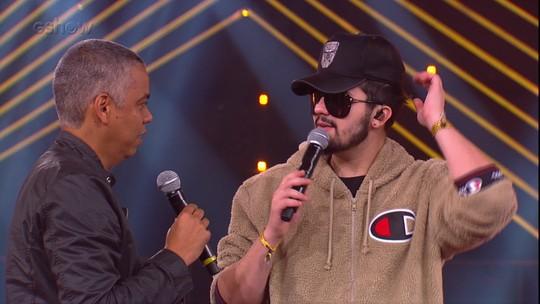 Luan Santana conta no 'Diz Aí, Max' como escolhe as músicas para o encerramento do 'SóTocaTop'
