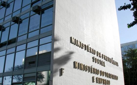 Fachada do Ministério do Trabalho (Foto: Bruno Peres/CB/D.A Press.)