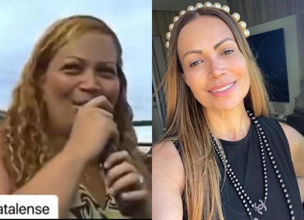 Antes e depois de Solange Almeida (Foto: Reprodução/Instagram)