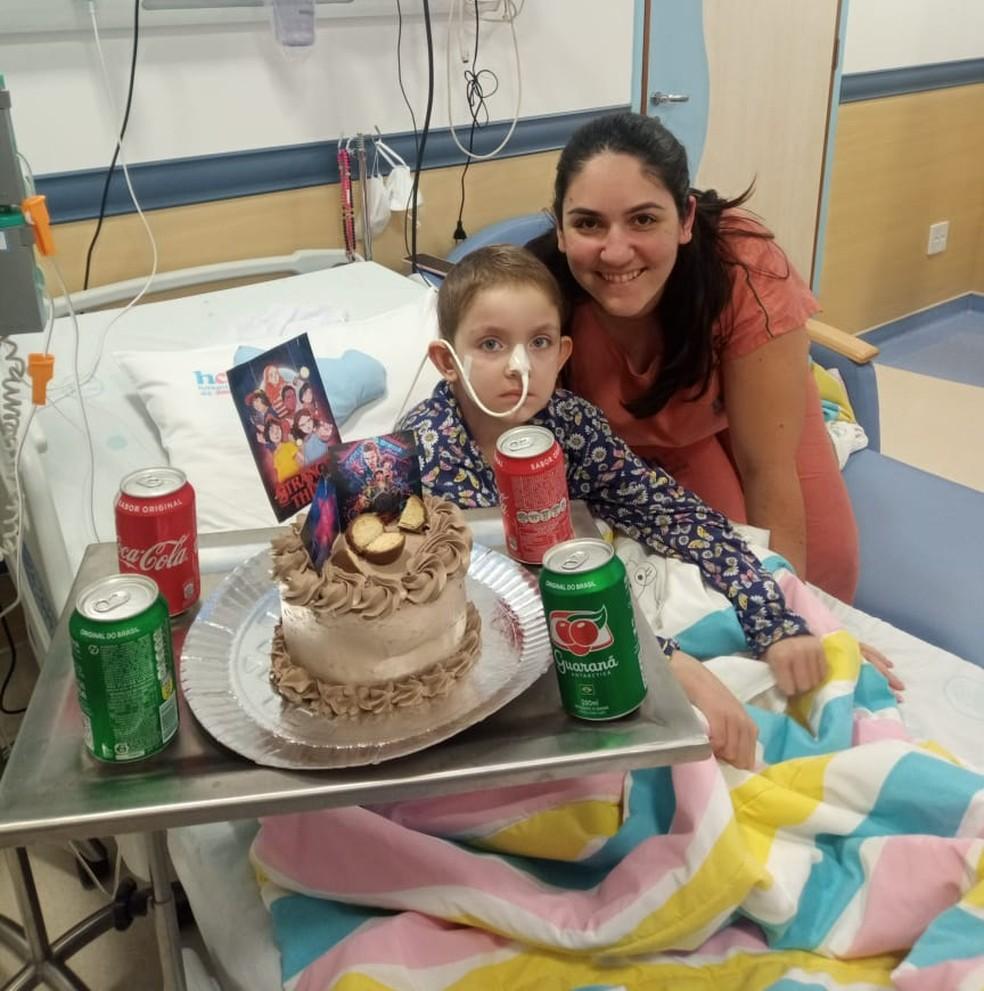 Menina de Areiópolis comemorou o aniversário de 7 anos após transplante de medula — Foto: Arquivo pessoal/Jéssica Lopes Sartorelli