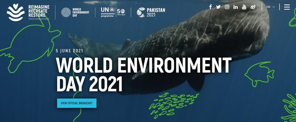 """Dia Mundial do Meio Ambiente é celebrado com campanha """"Reimagine. Recrie. Restaure""""  — Foto: Divulgação/Internet"""