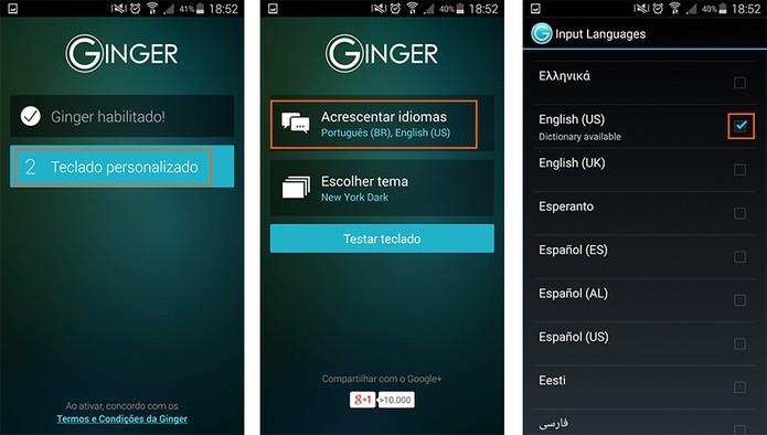 Personalize e adicione idiomas no app (Foto: Reprodução/Barbara Mannara)