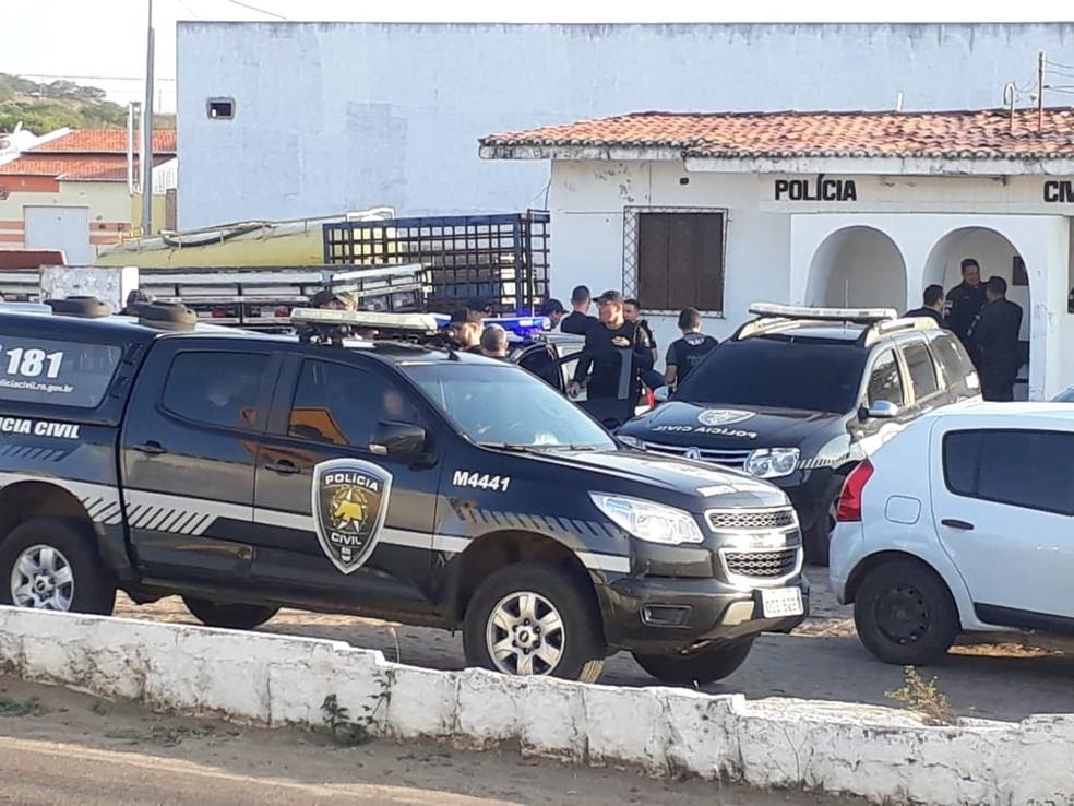Terceira fase da operação Silêncio cumpre mandados em Tangará e São José do Campestre — Foto: Polícia Civil do RN/Divulgação