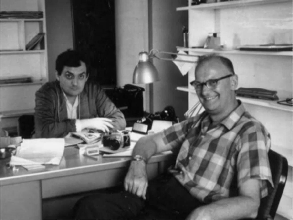 Stanley Kubrick com Arthur C. Clarke, autor do conto que inspirou 2001: uma odisseia no espaço (Foto: Wikimedia)