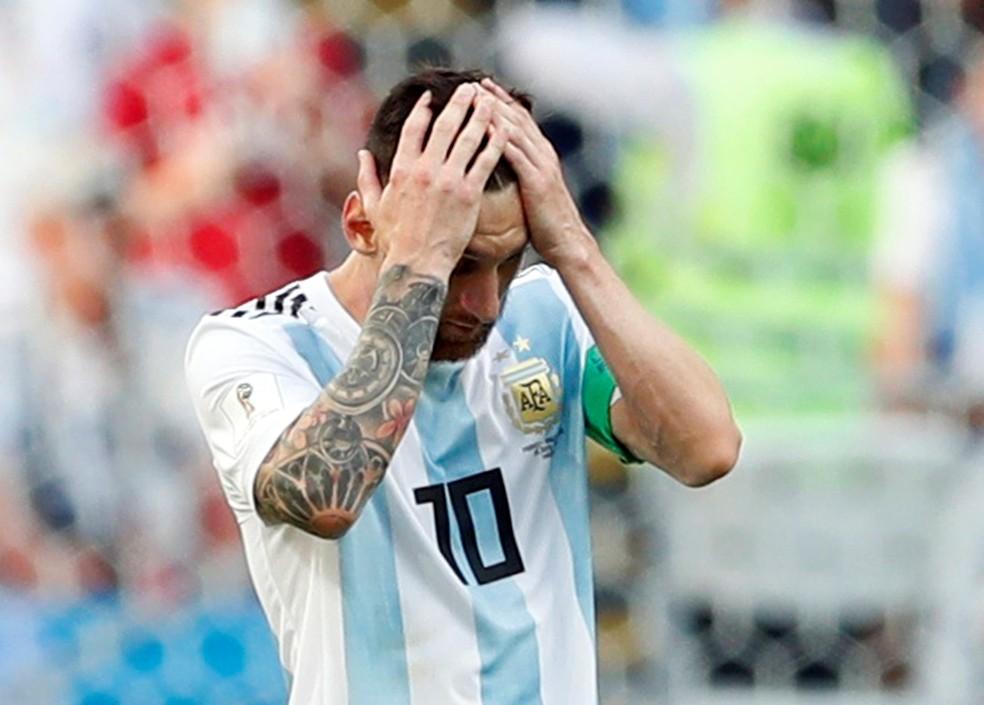 """Messi """"chorou como uma bebê"""" na perda do título da Copa América para o  Chile, em 2012 — Foto: Reuters"""