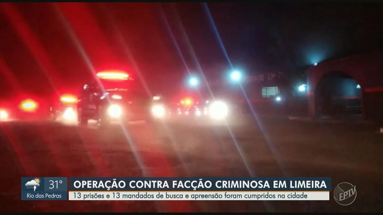 Gaeco e PM fazem operação contra o crime organizado em Limeira; nove são presos