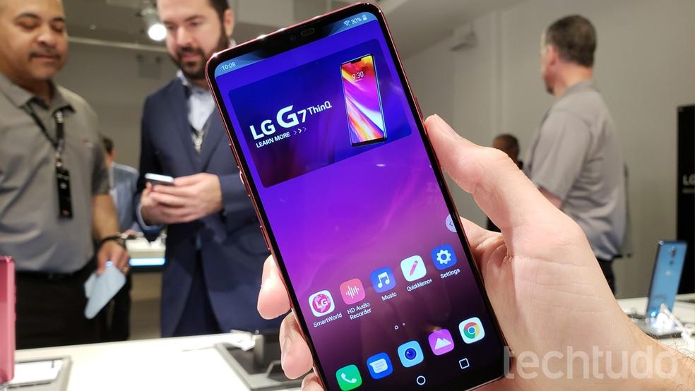 LG G7 ThinQ tem bateria de 3.000 mAh (Foto: Thássius Veloso/TechTudo)
