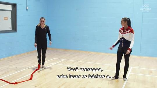 Ginasta e jogadora de futebol são desafiadas a tentar a trocar de esporte