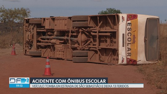 Ônibus escolar tomba e deixa 12 crianças feridas em São Sebastião