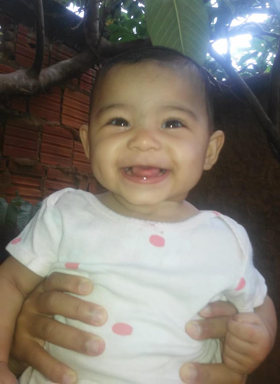 Maria Valentina Alves Rodrigues tinha um ano e dois meses  — Foto: Arquivo pessoal