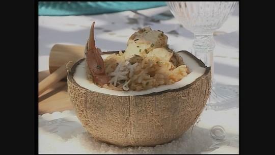 'Destinos e Sabores': confira receita de arroz de siri com coco