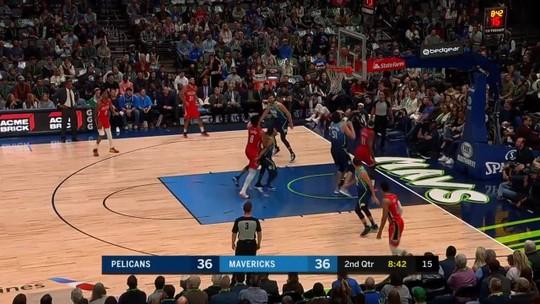 Luka Doncic dá novo show, e Mavericks atropelam os Pelicans em casa