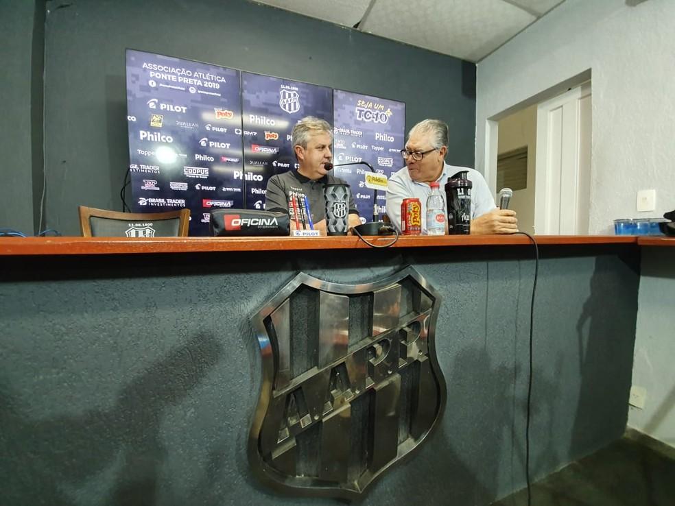 Gilson Kleina técnico Ponte Preta — Foto: Gustavo Biano / EPTV