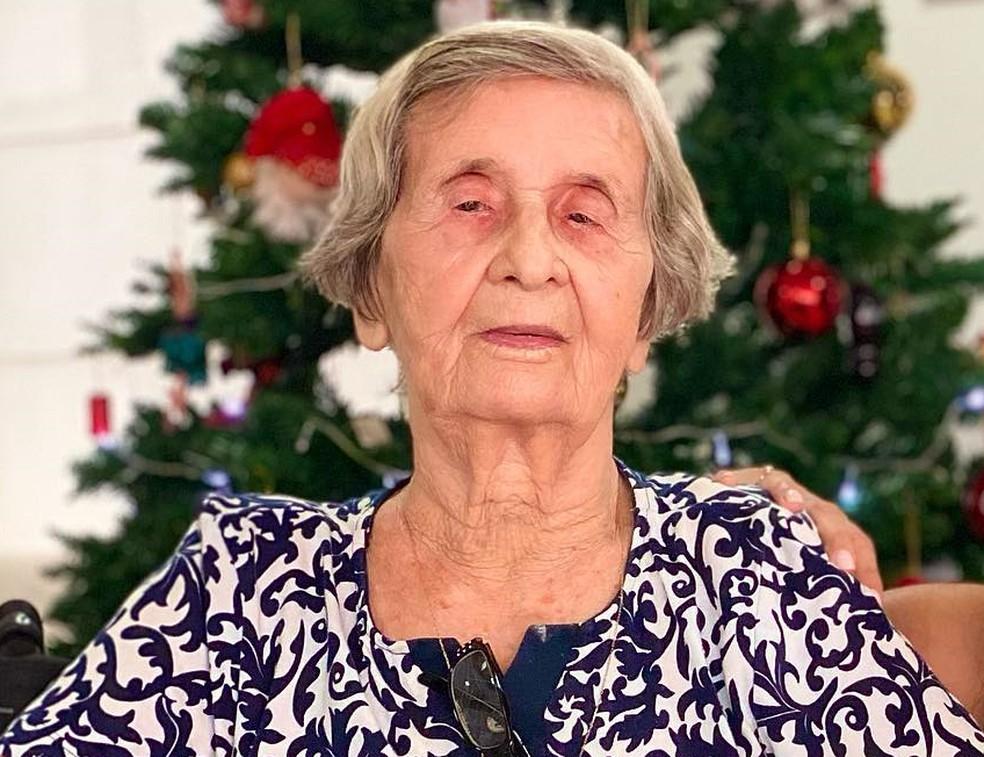 Maria Benedita Martins de Oliveira, mãe do ex-governador de Mato Grosso, Dante de Oliveira — Foto: Arquivo pessoal