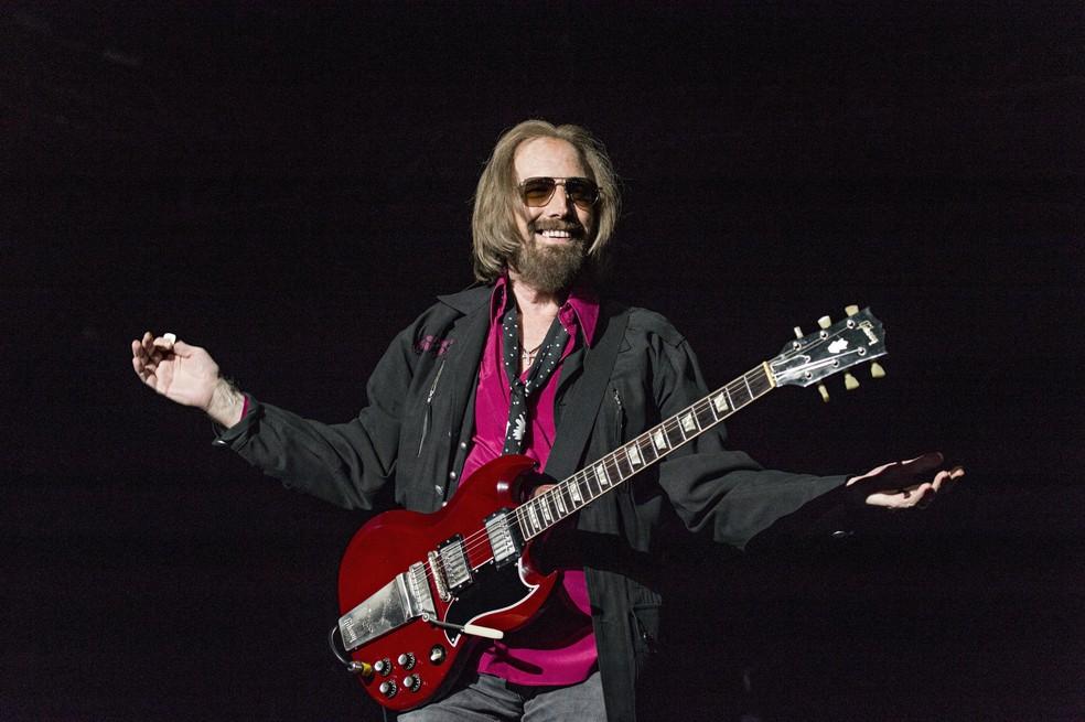 -  Tom Petty faz show em San Diego, na Califórnia, nos EUA, em setembro de 2017  Foto: Amy Harris/Invision/AP