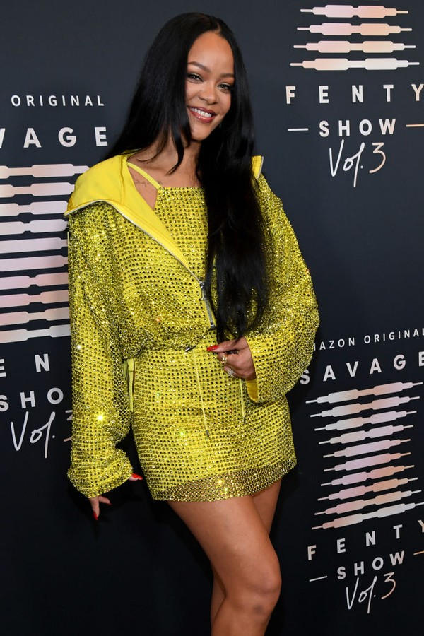 LOS ANGELES, CALIFORNIA - SEPTEMBER 22: In this image released on September 22, Rihanna attends Rihanna's Savage X Fenty Show Vol. 3 presented by Amazon Prime Video at The Westin Bonaventure Hotel & Suites in Los Angeles, California; and broadcast on Sept (Foto: Getty Images for Rihanna's Savag)