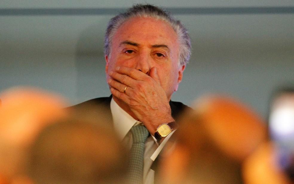 O presidente Michel Temer participa de evento em Belém (Foto: Raimundo Paccó/Estadão Conteúdo)