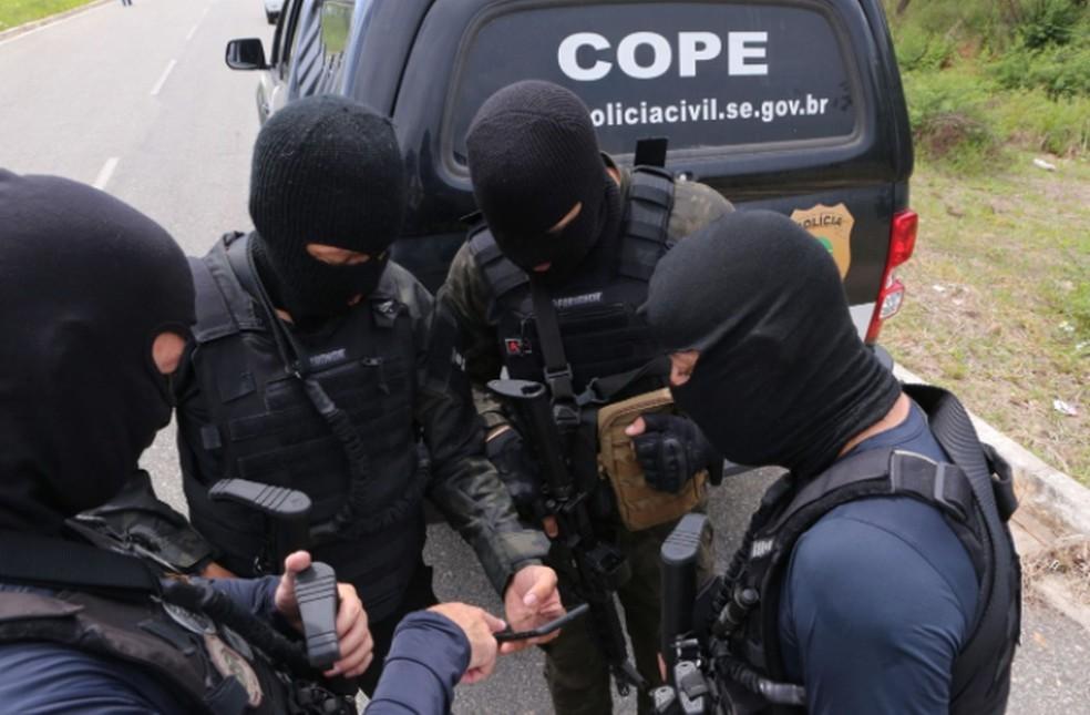 Equipe do Cope em Sergipe — Foto: SSP/SE/Arquivo