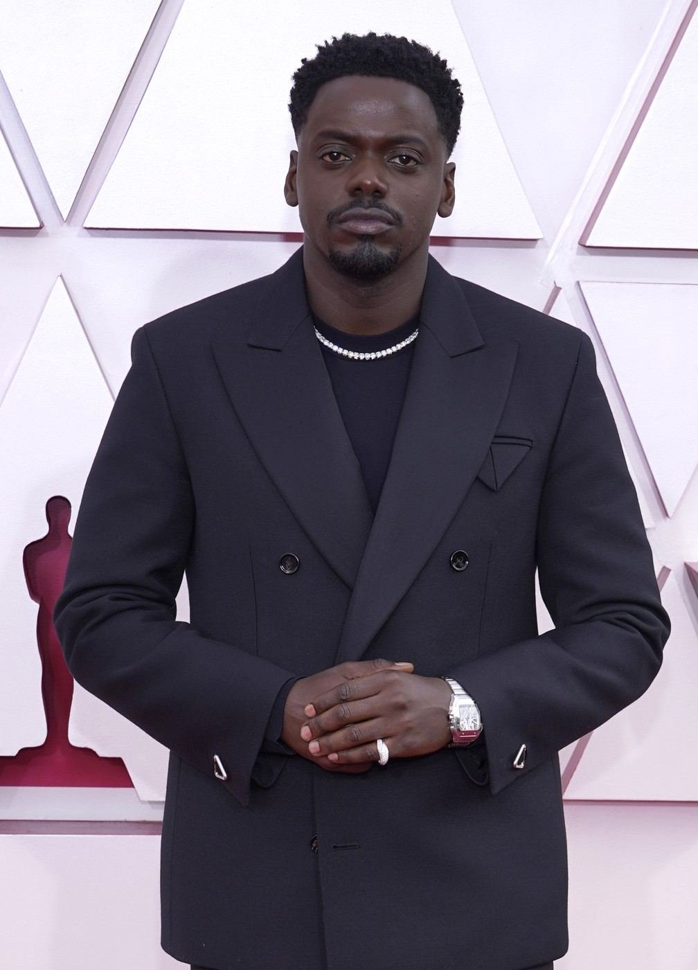 "Daniel Kaluuya, indicado a ator coadjuvante por ""Judas e o Messias Negro"", no Oscar 2021 — Foto: AP Photo/Chris Pizzello"