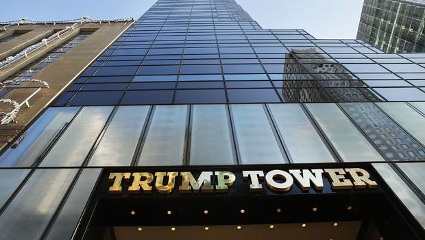 Fachada da Trump Tower, sede da Trump Organization e residência de Donald Trump em Nova York (Foto: Spencer Platt/Getty Images)
