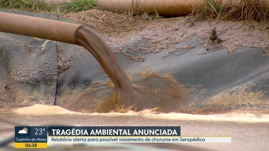 Tribunal de Contas do Rio alerta para risco de vazamento de chorume no aterro sanitário de Seropédica, RJ