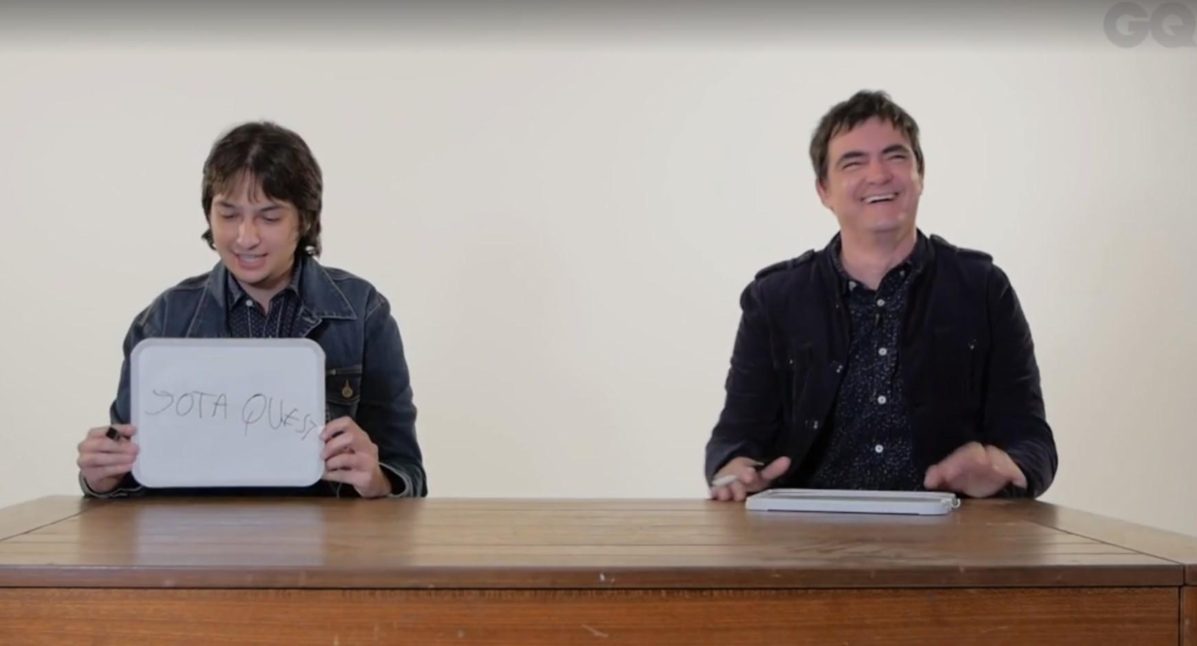 Juliano e Samuel Rosa participam do nosso Quem Sabe Mais (Foto: Reprodução)