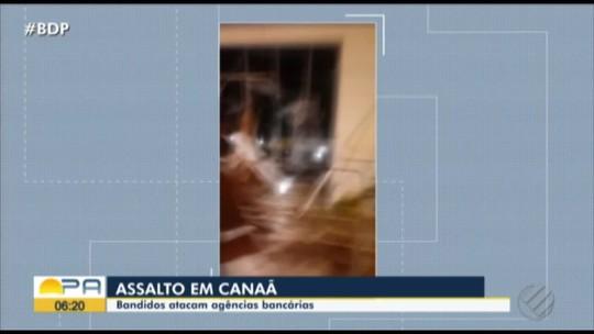 Bando invade agência bancária em Canaã dos Carajás, no Pará