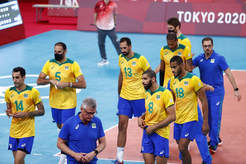 Brasil perde no vôlei e vai disputar o bronze — Foto: REUTERS / Carlos Garcia Rawlins