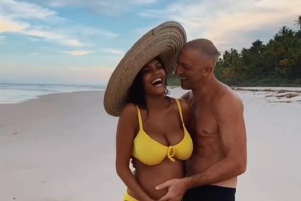 Vincent Cassel e a mulher Tina Kunakey (Foto: Reprodução/Instagram)