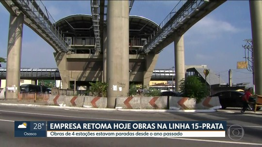 Governo de SP retoma obras da Linha 15-Prata do monotrilho e estima inaugurar 4 novas estações em janeiro de 2020