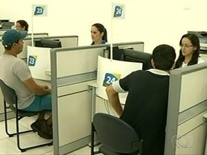 Sine de Santa Helena de Goiás faz 80 encaminhamentos de candidatos por dia, em Goiás (Foto: Reprodução/TV Anhanguera)