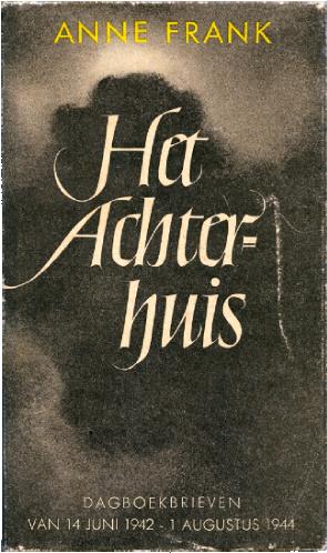 Primeira edição do Diário de Anne Frank, publicada na Holanda, em 1947 (Foto: Anne Frank Org)