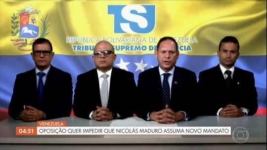 Oposição da Venezuela quer impedir que Nicolás Maduro assuma novo mandato