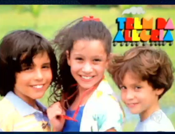 Patricia Marx, ao centro, em foto da capa de um disco do saudoso Trem da Alegria (Foto: Reprodução)