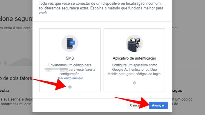 Configure o recebimento de códigos por SMS (Foto: Reprodução/Paulo Alves)