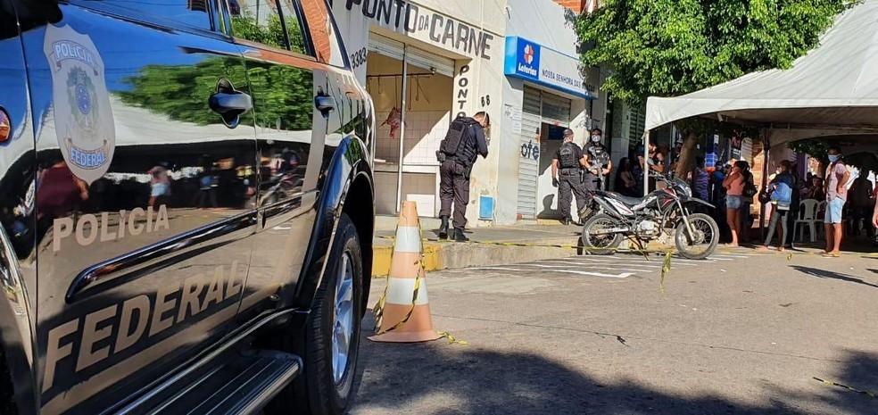Polícia Federal investiga no Cariri esquema no pagamento do auxílio emergencial na cidade de Aurora, no Ceará. — Foto: Divulgação