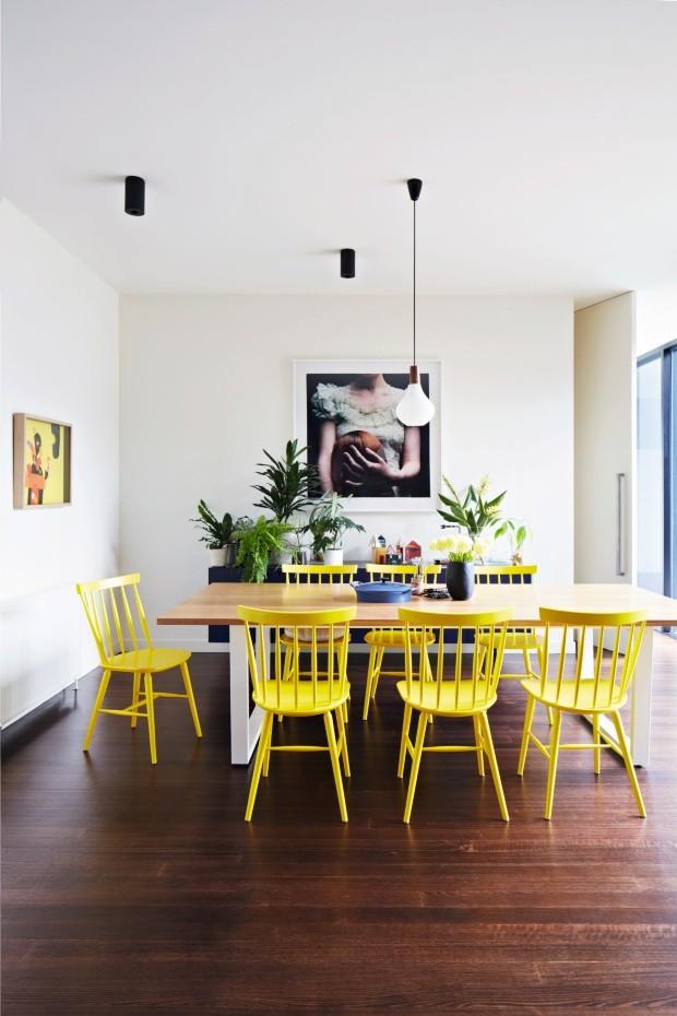 Sala de jantar de casa em Melbourne, na Austrália (Foto: Armelle Habib / Living Inside)