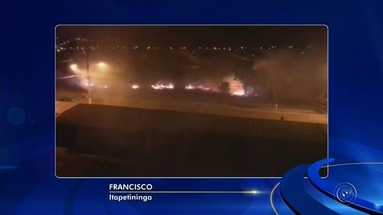 Bombeiros registram mais de 20 queimadas na região de Itapetininga em um dia
