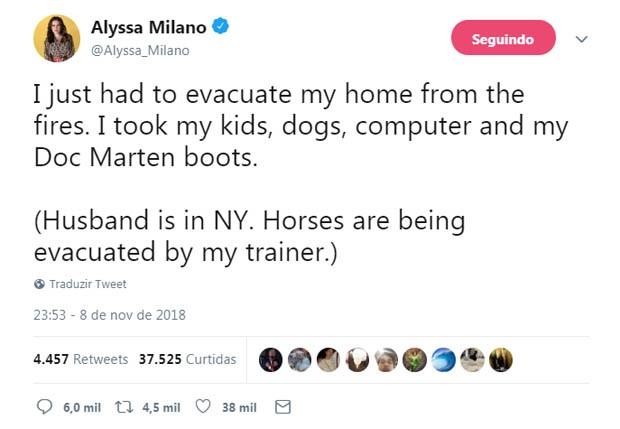Alyssa Milano (Photo: Reproduction / Twitter)