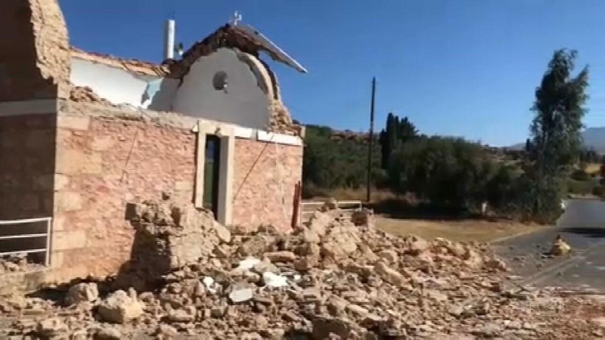 Terremoto atinge a ilha de Creta, a maior da Grécia
