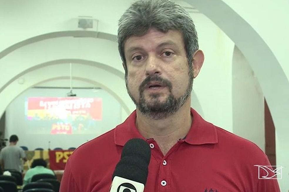 Saulo Arcangeli (PSTU) é candidato ao Senado pelo Maranhão (Foto: Reprodução / TV Mirante)