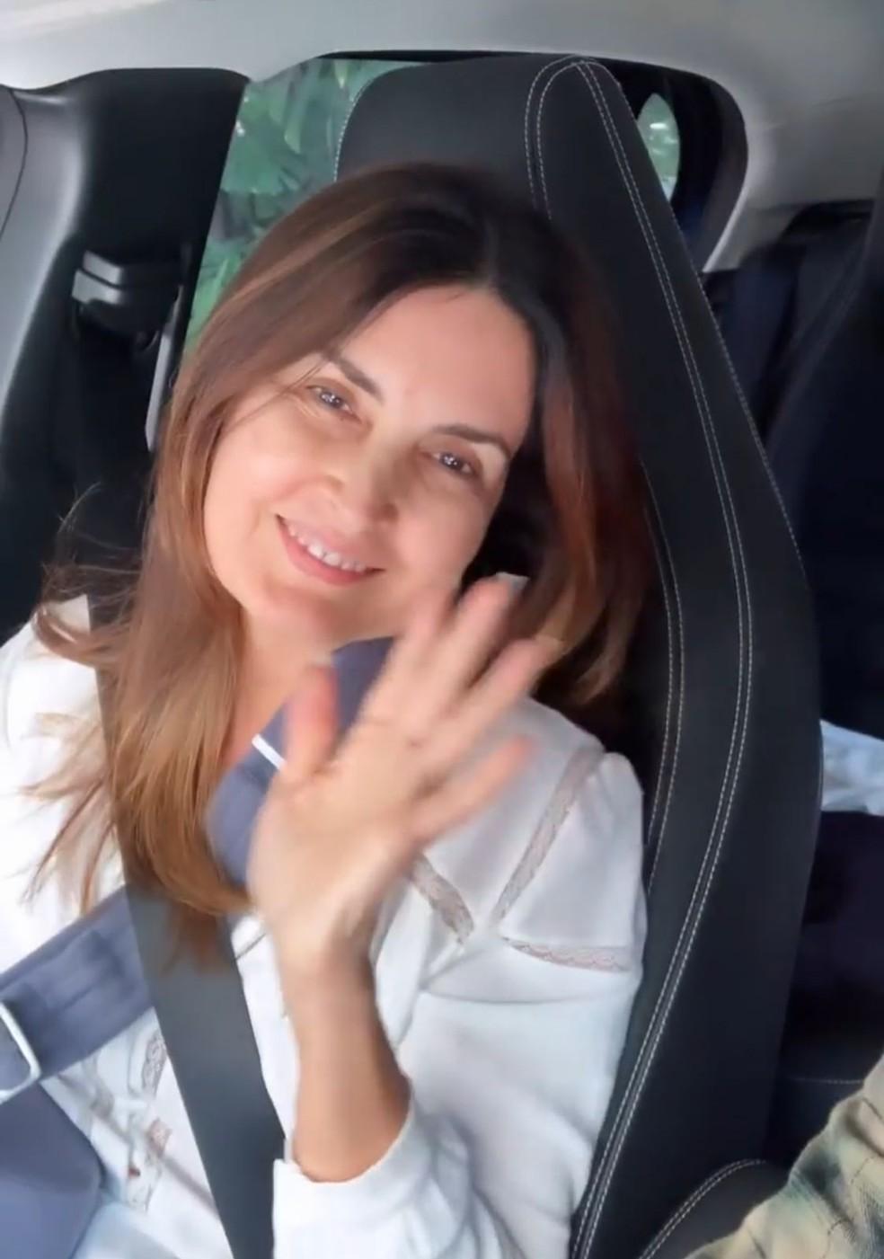 Túlio Gadêlha mostrou Fátima Bernardes se recuperando — Foto: Reprodução Instagram