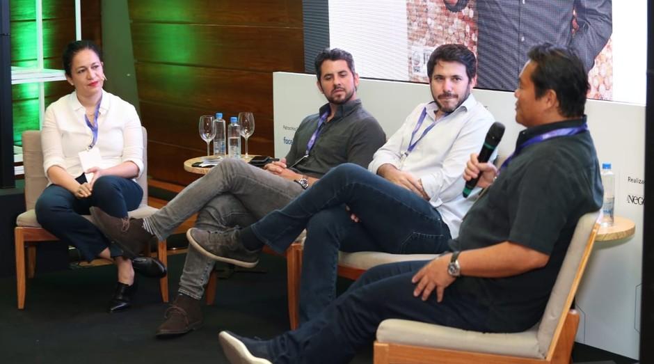 Sandra Boccia, Thadeu Diz, Daniel Wjuniski e Robinson Shiba (Foto: Alexandre Dipaula)